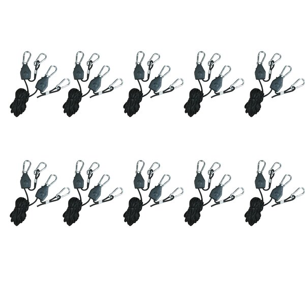 Heavy Duty Adjustable Rope Clip Hanger (Set of 10) by Hydroplanet