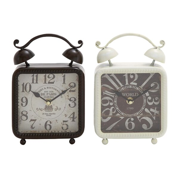 Metal Table Clock Set (Set of 2) by Cole & Grey