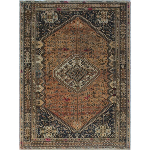 One-of-a-Kind Brook Semi Antique Hand-Knotted Wool Brown Area Rug by Isabelline