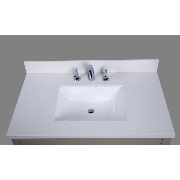 Thassos 37 Single Bathroom Vanity Top by Renaissance Vanity