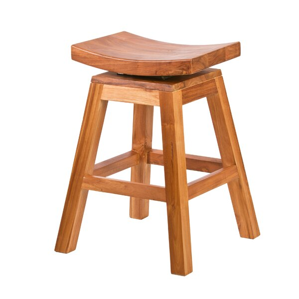 Darlington 24 Swivel Bar Stool by Rosecliff Heights