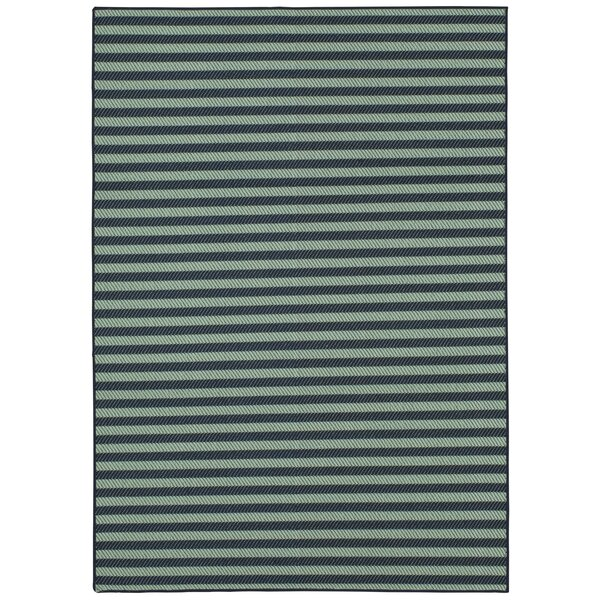 Kenison Indoor/Outdoor Aqua Area Rug by Ivy Bronx