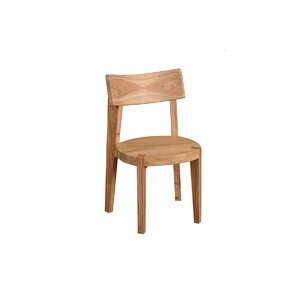 Frozen Solid Wood Dining Chair by Ibolili