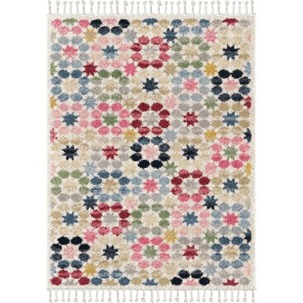 Kennedale Quilt Saffron/Ivory/Blue Area Rug by Bungalow Rose