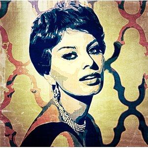 Feminine 'Loren' Painting Print on Wrapped Canvas by Graffitee Studios