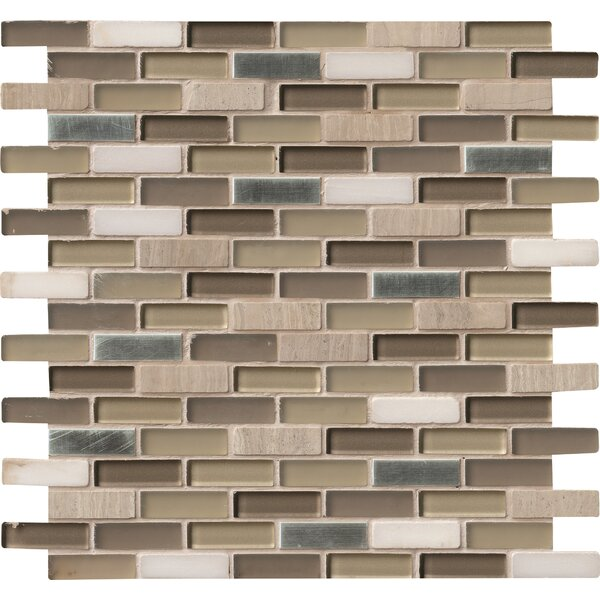 0.63 x 2 Glass/Stone/Metal Mosaic Tile by MSI