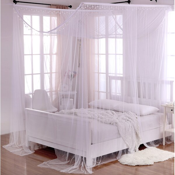 Kaneshiro Crystal Sheer Panel Bed Canopy by Willa Arlo Interiors