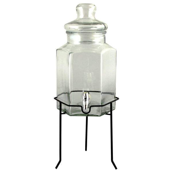 Dutt Glass 167 oz. Beverage Dispenser with Wire Stand by Red Barrel Studio