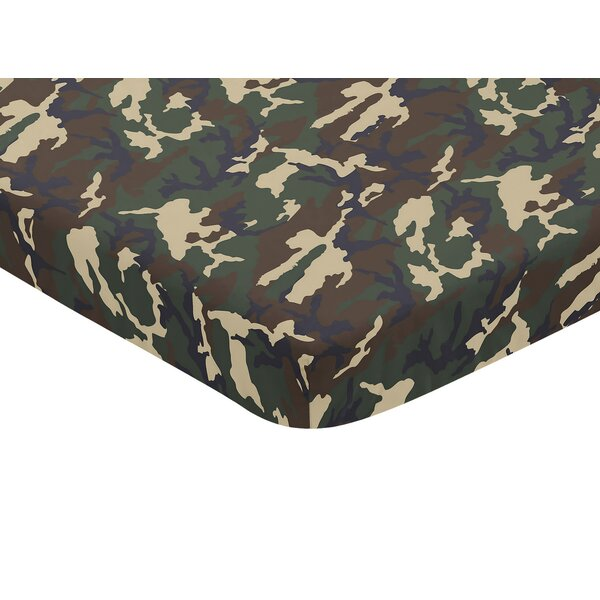 Woodland Camo Mini Fitted Crib Sheet by Sweet Jojo Designs