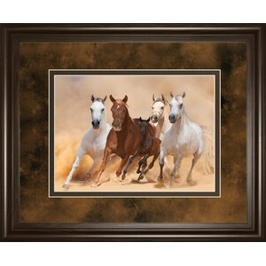 Horses in Dust by Loya_Ya Framed Photographic Print by Classy Art Wholesalers