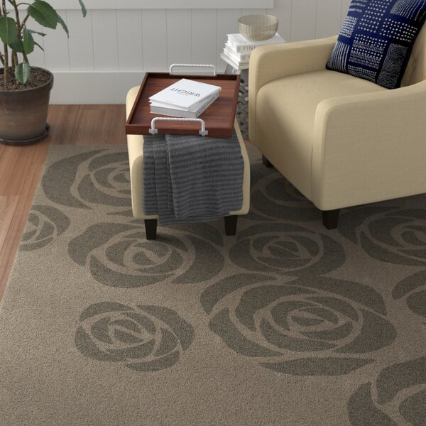 Roseland Hand-Tufted Beige/Gray Area Rug by Red Barrel Studio