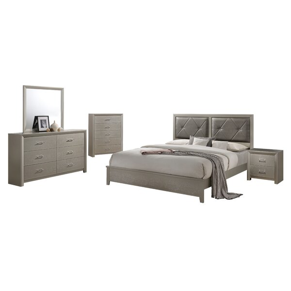 Whatley Standard Solid Wood 4 Piece Bedroom Set by Mercer41