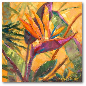 Splash of the Tropics I Painting Print on Wrapped Canvas by Courtside Market