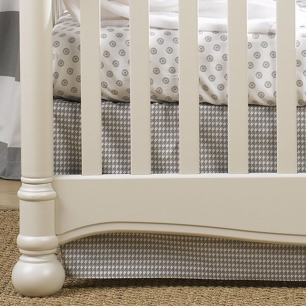 Houndstooth Crib Skirt by Liz and Roo Fine Baby Bedding