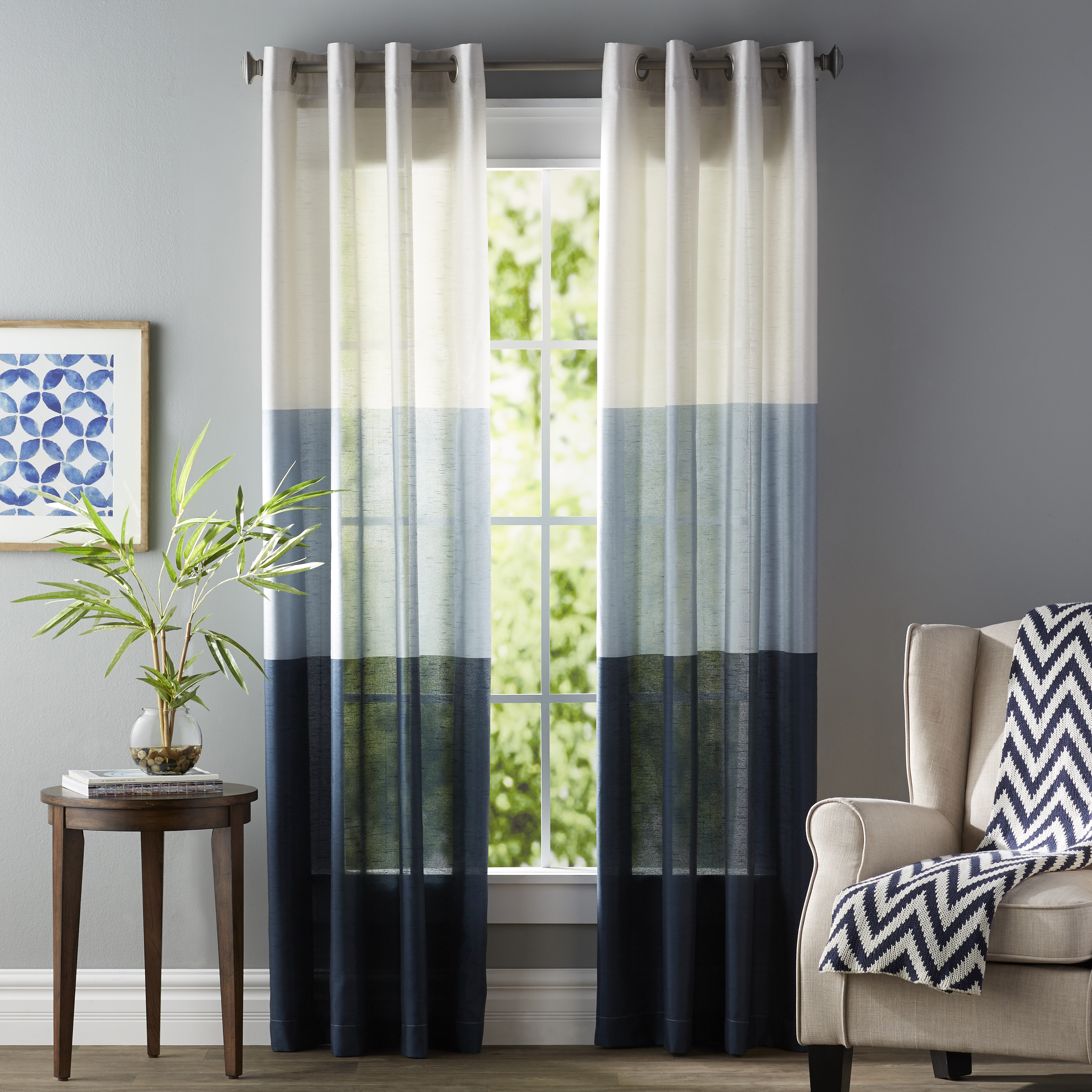 Beautiful Latitude Run Newton Striped Room Darkening Grommet Curtain Panels U0026 Reviews  | Wayfair
