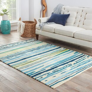 Angelina Hand-Hooked Polypropylene Blue/Green Indoor/Outdoor Area Rug by Latitude Run