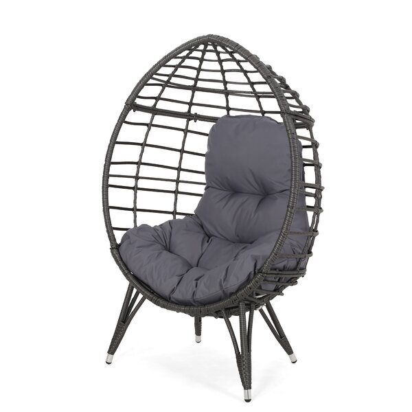 Castaic Wicker Teardrop Swing Chair by Bloomsbury Market
