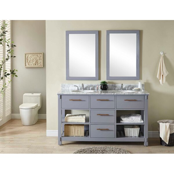 Greeley 61 Double Bathroom Vanity Set by Wrought Studio