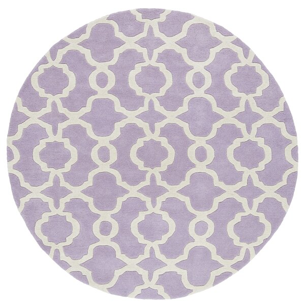 Molly Hand-Tufted Lilac / Ivory Area Rug by Ivy Bronx