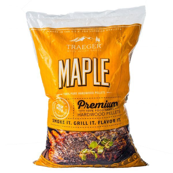 Traeger Maple Hardwood Pellets by Traeger Wood-Fired Grills