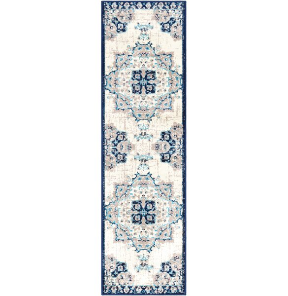 Ramsay Vintage Floral Navy/Baby Blue Area Rug by Bungalow Rose