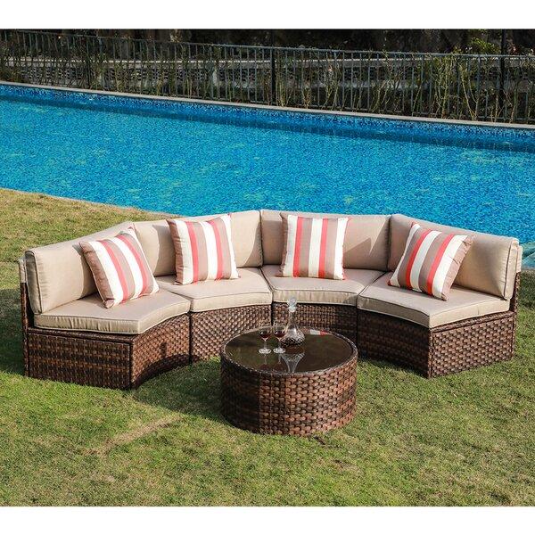 Rasmus 5 Piece Sofa Seating Group with Cushions by Latitude Run