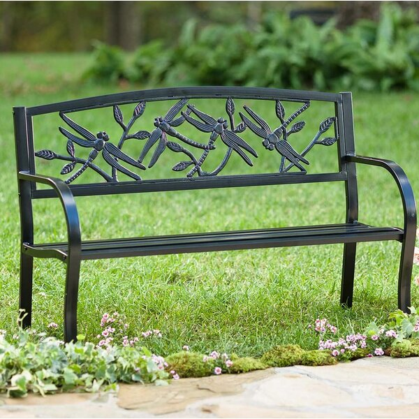 Dragonfly Metal Garden Bench by Plow & Hearth