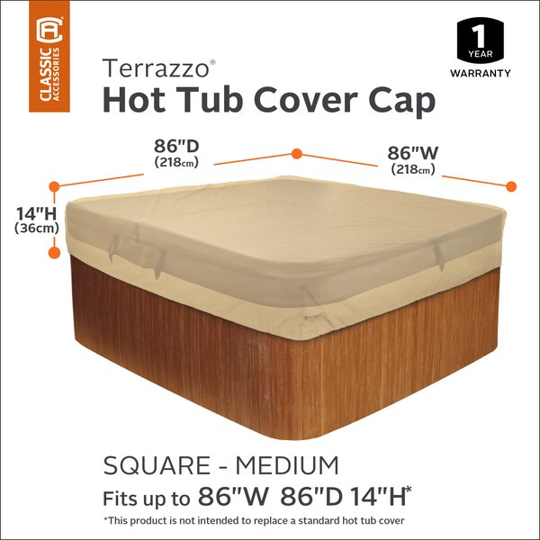 Singer Square Hot Tub Spa Cover by Freeport Park