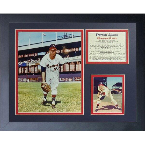 Warren Spahn Framed Memorabilia by Legends Never Die