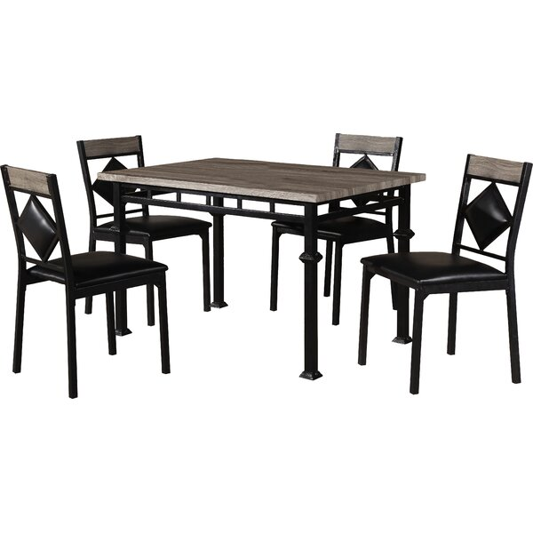 Canas 5 Piece Dining Set by Red Barrel Studio