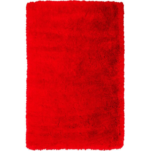 Kearns Faux Sheepskin Red Area Rug by Latitude Run