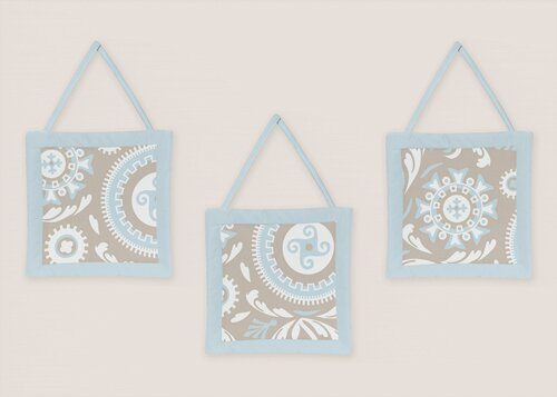 3 Piece Hayden Wall Hanging Set by Sweet Jojo Designs