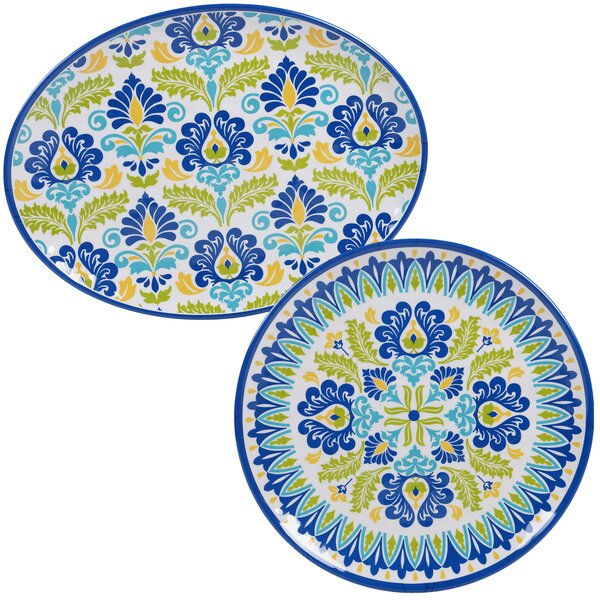 Hoehn 2 Piece Melamine Platter Set by Alcott Hill