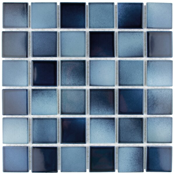 Arthur 2 x 2 Porcelain Mosaic Tile in Stream by EliteTile