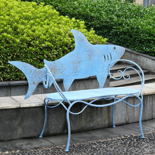Keira Shark Metal Park Bench by Longshore Tides
