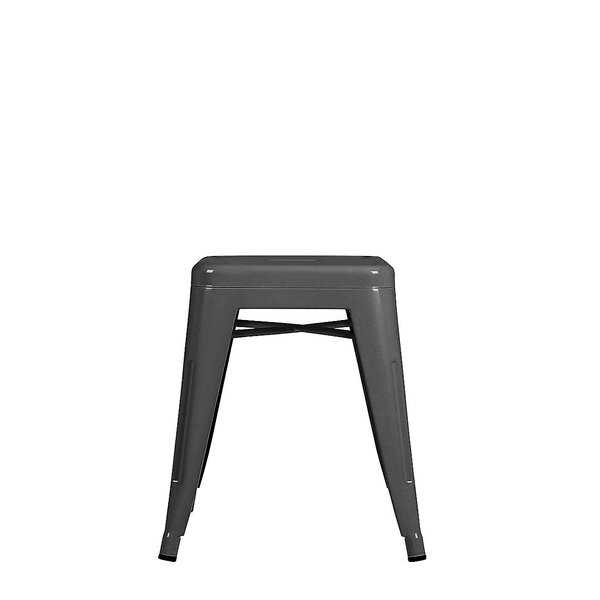 Melgoza Mini Tolix Accent Stool by Williston Forge