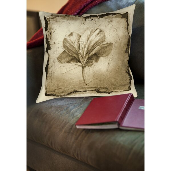 Floral Impression 9 Printed Throw Pillow by Manual Woodworkers & Weavers