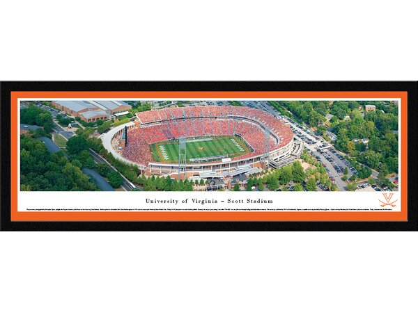NCAA Virginia, University of - Aerial by Christopher Gjevre Framed Photographic Print by Blakeway Worldwide Panoramas, Inc