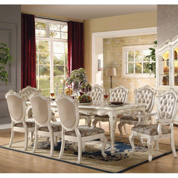 Wensley 9 Piece Extendable Solid Wood Dining Set by Astoria Grand