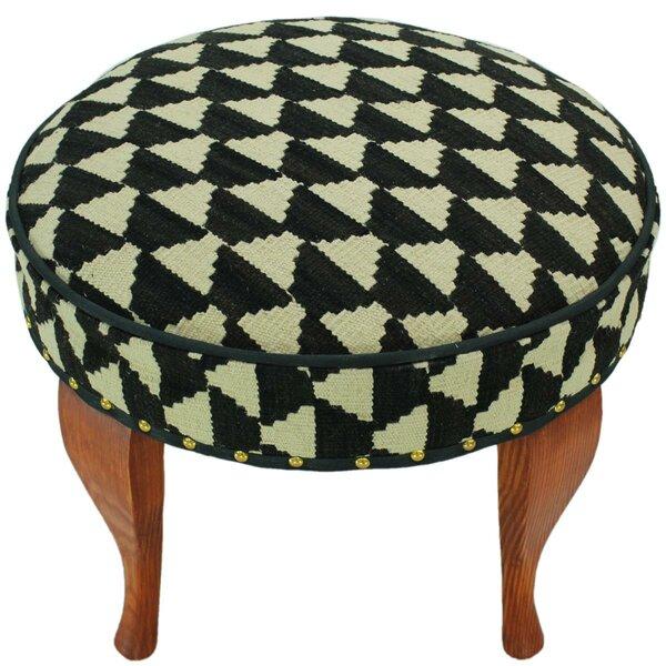 Stgeorge Kilim Upholstered Handmade Ottoman by Bloomsbury Market