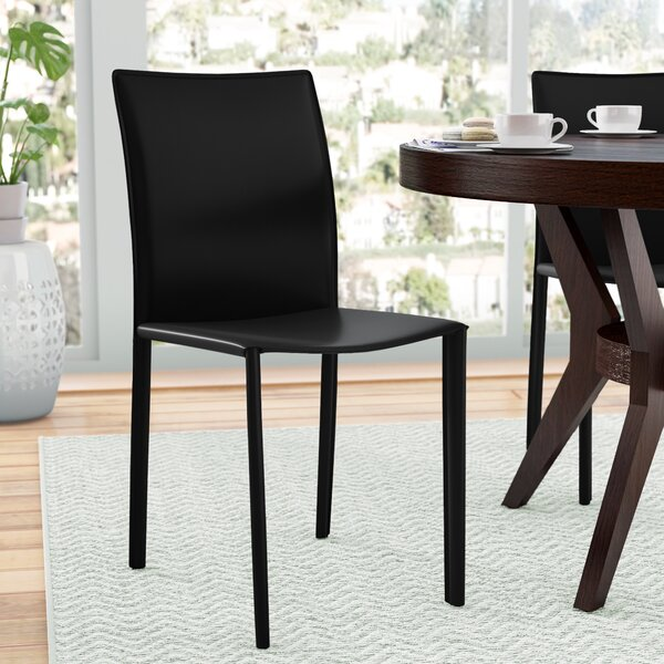 Kaysen Leather Side Chair (Set of 2) by Ivy Bronx Ivy Bronx
