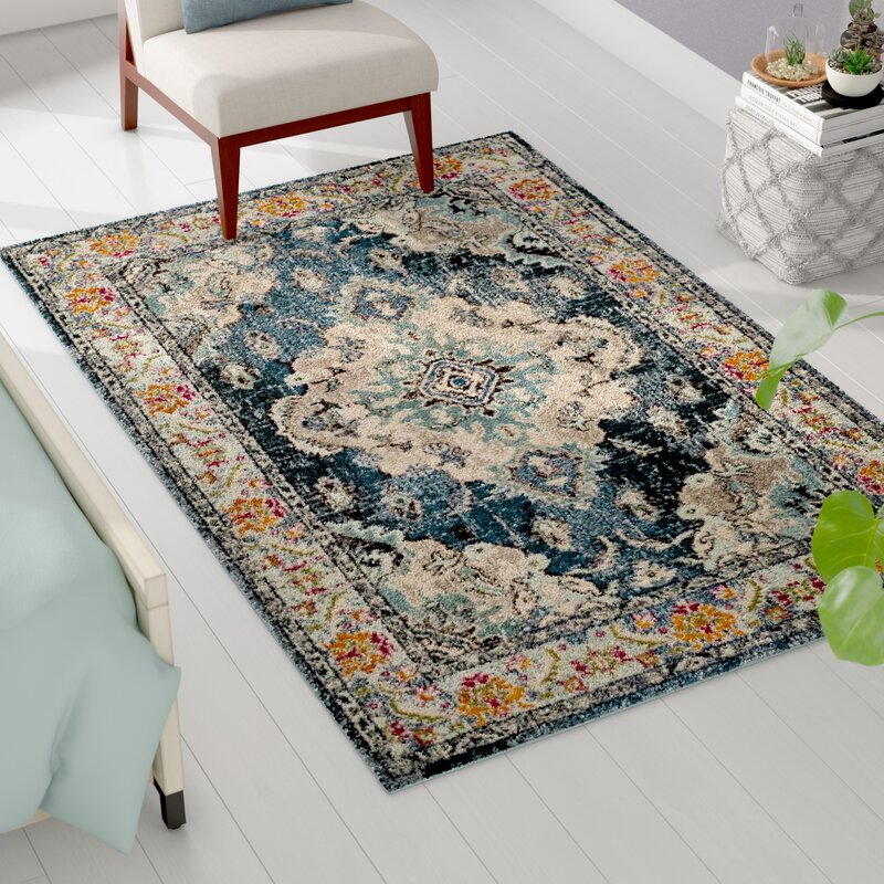 Newburyport Navy Light Blue Area Rug