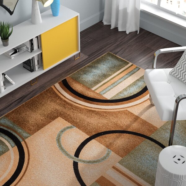 Gehl Modern Blue Arcs & Shapes Area Rug by Zipcode Design