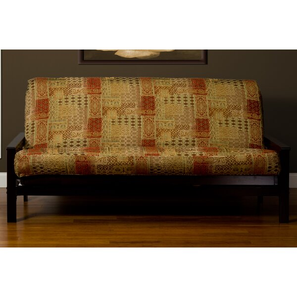 Lenzee Zipper Box Cushion Futon Slipcover By Bungalow Rose