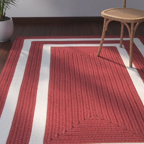 Marti Hand-Woven Outdoor Red Area Rug by Bay Isle Home