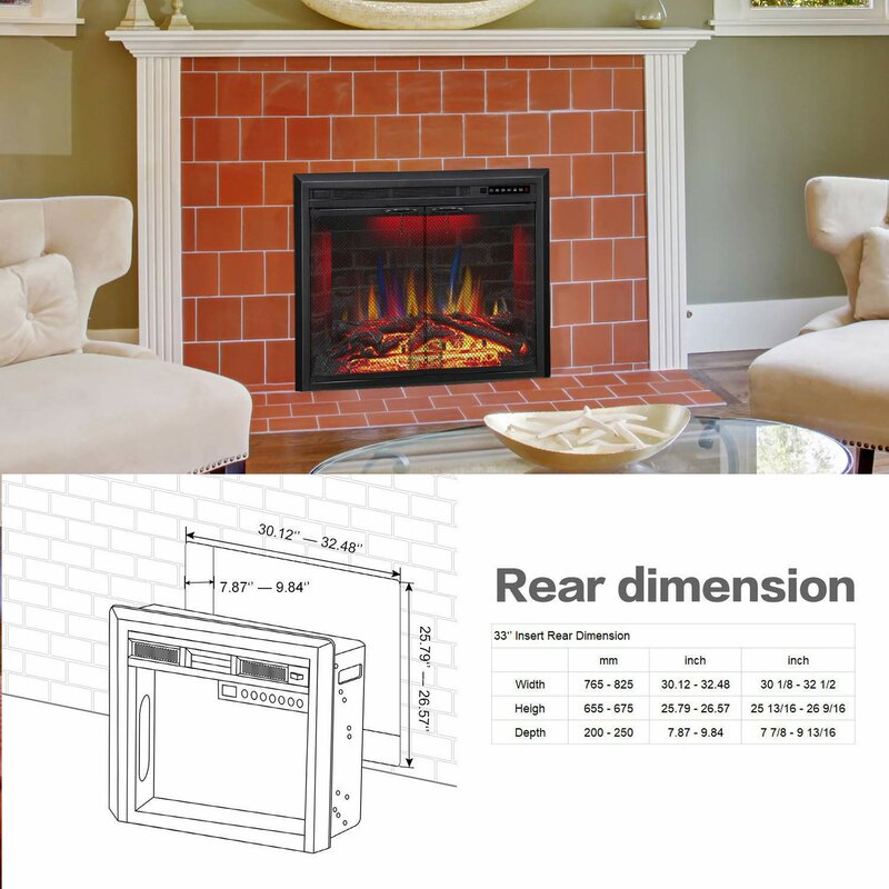 Charlton Home R W Flame Electric Fireplace Insert Traditional