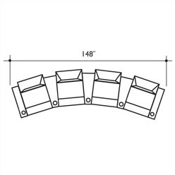 St. Tropez Home Theater Row Seating (Row Of 4) By Bass