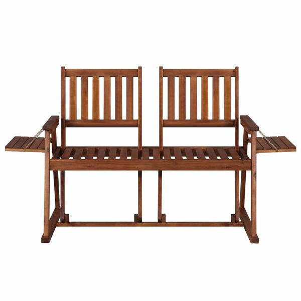Fenwick Landing Wooden Tete-a-Tete Bench by Highland Dunes