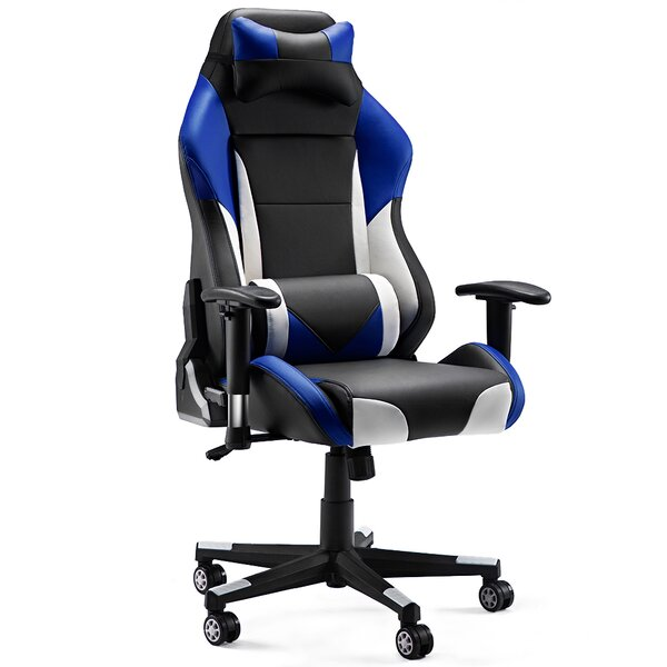 Oslo High-Back Ergonomics Leather Gaming Chair by Latitude Run