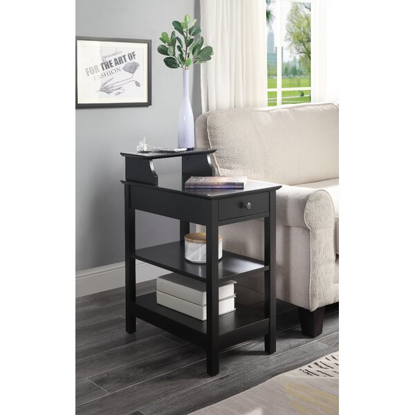 Margarid End Table With Storage By Ebern Designs